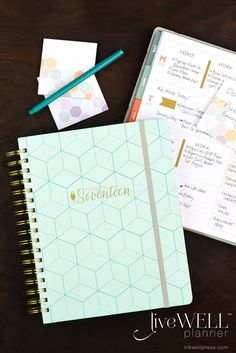 Flex liveWELL Planner Weekly Planner: Loving the monthly habit tracker and new color scheme for 2017! #lovemyIWP @inkwellpress