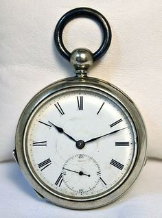 Antique Pocket Watch Fredonia New York Key Wind Key Set Size 20