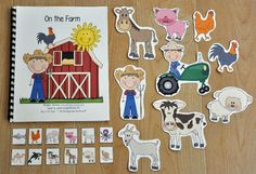 """""""On the Farm"""" Adapted Song Book - Click Image to Close Speech Therapy Activities, Language Activities, Book Activities, Preschool Activities, Speech Language Therapy, Speech And Language, Preschool Kindergarten, Preschool Farm, Farm Unit"""
