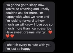 Goodnight Texts For Her, Goodnight Texts To Boyfriend, Cute Messages For Boyfriend, Sweet Text Messages, Best Goodnight Text, Love Texts For Him, Text For Him, Love Birthday Quotes, Happy Birthday Quotes For Friends