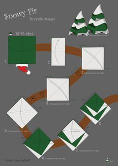 Diagram Snowy Fir by After Christmas, Christmas Trees, The Diagram, Diy And Crafts, Paper Crafts, Christmas Origami, Little Gifts, Pdf, Keratin