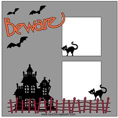 Cricut Sketch Thursday: Beware Scrapbook Layout This easy scrapbook layout was designed on the Cricut Design Space using images from Close To My Heart's Artbooking Cartridge.  You can make this scrapbook page in a variety of sizes using plain colored card stock
