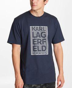 Shiny Karl block logo t-shirt. Yeezy Outfit, Mens Yeezy, Karl Lagerfeld, Logo, Tees, Sleeves, Mens Tops, T Shirt, Logos