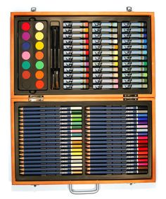 Look at this Dark Cherry Deluxe 88-Piece Art Set on #zulily today!