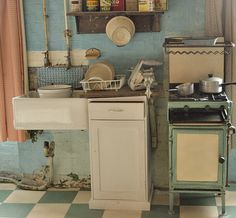 """Modern"" kitchen in the Old Workhouse at Southwell, Nottinghamshire"