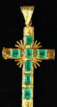 Image result for emerald crosses