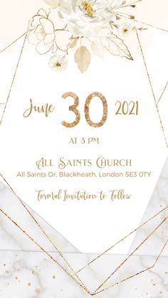 White, Ivory & Gold Save the Date Wedding Invitation Video Electronic Wedding Invitations, Wedding Invitation Video, Wedding Invitation Card Design, Wedding Menu Cards, Flower Invitation, Save The Date Invitations, Digital Invitations, Elegant Wedding Invitations, Gold Save The Dates