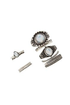 Faux Stone Ring Set #accessorize
