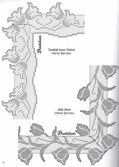 This Pin was discovered by Sha Crochet Boarders, Crochet Doily Patterns, Crochet Designs, Crochet Doilies, Crochet Flowers, Crochet Lace, Crochet Stitches, Filet Crochet Charts, Crochet Diagram
