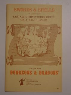 Dungeons & Dragons // Swords & Spells // Gary Gygax (1976)