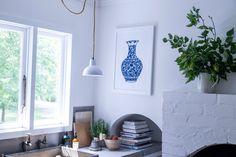 Blue & White Urn