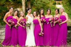 pretty color! Love the style of the dresses!