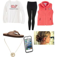 A fashion look from November 2013 featuring high waisted leggings, rainbow flip flops and initial necklace. Browse and shop related looks.