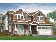 Craftsman House Plan with 3454 Square Feet and 4 Bedrooms(s) from Dream Home Source | House Plan Code DHSW55844