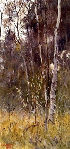Frederick McCubbin, At the falling of the year, 1886