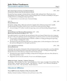 tv producer page2 - Web Producer Resume