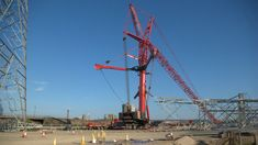 The United Kingdom's largest mobile crane in position to erect the country's tallest pylon Crane Construction, Industrial Machinery, Heavy Equipment, Big Trucks, Hard Work, United Kingdom, Germany, England, Deutsch