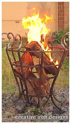 Creative Iron Designs ~ the fire basket