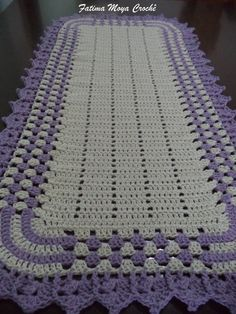 Crochet Purple Baby Blanket - Handmade Purple and White Baby Afghan - Purple Throw - Purple and White Granny Square Blanket Crochet Afghans, Crochet Doily Rug, Crochet Squares, Crochet Home, Cute Crochet, Crochet Baby, Knit Crochet, Crochet Patterns, Crochet Curtains