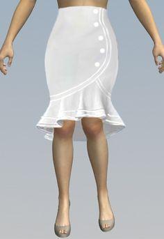 1f2ed5035 291 mejores imágenes de falda a la rodilla en 2019 | Falda modelo ...