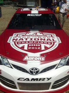 Michael Waltrip's - 2012 Back to Back National Champions race car at Talladega, May 2013