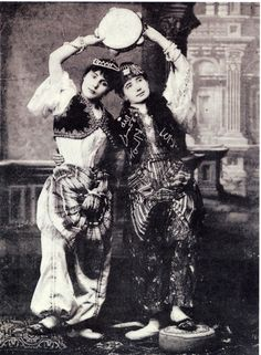 vintage photo labeled as Chengi dancers
