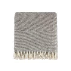 Gotland Grey Cream 100% Wool Blanket