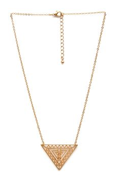Triangle Token Pendant Necklace | FOREVER21 #Accessories