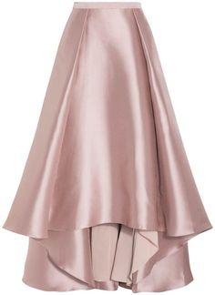 3e4c723f921 Brown Skirts, Beige Skirt, Badgley Mischka, Dressing, Flare Skirt,  Polyvore, Clothes, Fashion, Ballet Skirt