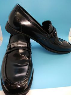 262b95d8637 Men s MARC ANTHONY Imitation Leather Black Loafers Slip On Shoes -size 8 12  Med  fashion  clothing  shoes  accessories  mensshoes  casualshoes (ebay  link)