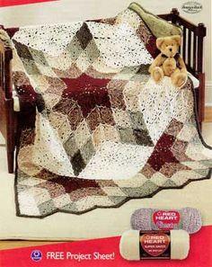 Prairie Star afghan - love the quilt effect  #crochet #star #motif #afghan #throw