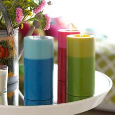 Garden Party Pillar Candles