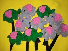 Elephants from flanel