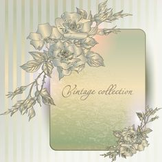 Beautiful Vintage Floral Card Background - http://www.dawnbrushes.com/beautiful-vintage-floral-card-background/