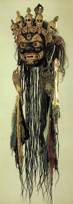 fishstickmonkey:  Mask for the Tsam mystery Mongolia. Second half of the 19th century The Museum of Oriental Art, Moscow