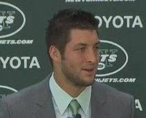 UGH! Tim Tebow introduced as a member of the New York Jets