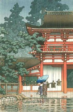 Kasuga Shrine, Nara Series: Landscape Views of Japan II - Kansai Set Kawase Hasui (Japan, Japan, April, 1933 Prints; woodcuts Color woodblock print Image: 14 x 9 in. Paper: 15 x 10 in. x cm) Anonymous gift Japanese Art Japanese Artwork, Japanese Painting, Japanese Prints, Chinese Painting, Japan Illustration, Botanical Illustration, Japan Design, Nara, Kasuga Shrine