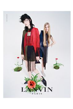 Nice layout and color lanvin 2014 fall campaign2 Edie Campbell & Her Family Front Lanvins Fall 2014 Campaign