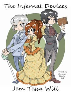 Fanart The Infernal Devices - Cazadores de Sombras by *xiannustudio on deviantART