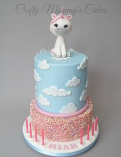 (1) Super cute Baby Unicorn themed cake for my own... - Crafty Mummy's Cakes