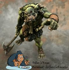 Ouroboros Miniatures Orc Brave by Alan O'Bryan