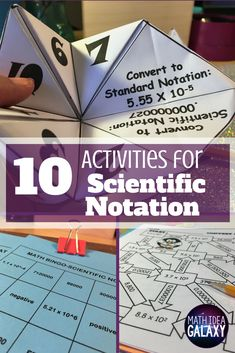 Check out all 10 scientific notation activity ideas for helping students become pro working with really big & really small numbers. Teaching Secondary, Teaching Math, Secondary Math, Teaching Tools, Secondary Resources, Scientific Notation, Math Courses, Thing 1, 8th Grade Math