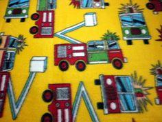 Baby Blanket Fireman Baby Fire Trucks Newborn by arizonathreads