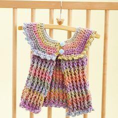 Bernat: Pattern Detail - Mosaic - Cotton Candy Baby Tunic (crochet)