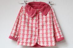 Kids reversible coat - hand made Kids Fashion, Sewing, Blouse, Coat, Handmade, Women, Dressmaking, Blouses, Kids Outfits