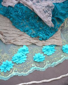 6 Piece Layering Set  Newborn Photography  Blue by modernragquilts, $85.00