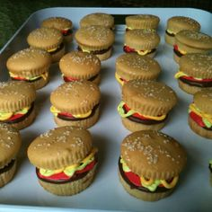 Cupcake burgers for Cub Scout dessert parade.
