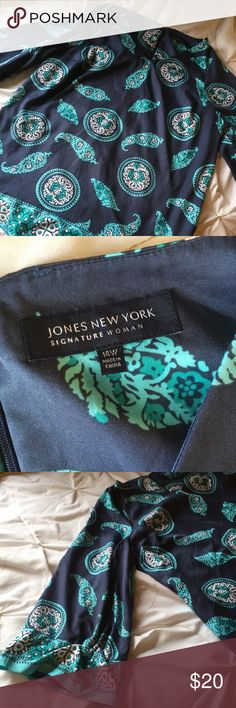 Jones New York long sleeve shirt this shirt is silky and soft and features a beautiful paisley print. Jones New York Tops Blouses