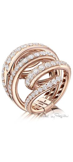 De Grisogono ~ Diamond Wrap Ring set in Rose Gold....x