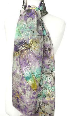Genuine Art on Scarf Ideas, Handmade Scarves, Silk Painting, Silk Scarves, Scarfs, Wearable Art, Shawl, Flats Outfit, 3d Fashion